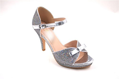 Silver Tech 8 Boots - Kebinai 2018 Women's Shoes Open-Toed high-Heeled Sandals,Silver,37