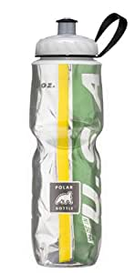 Polar Bottle Insulated Water Bottle (Green/Yellow) (24 oz) - 100% BPA-Free Water Bottle - Perfect Cycling or Sports Water Bottle - Dishwasher & Freezer Safe