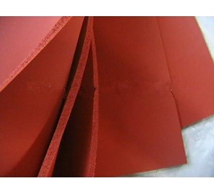 1pcs Silicone Résistant à la chaleur plaque de mousse Taille 500x 500x 10mm, plaque en caoutchouc de silicone à cellules fermées pour transfert de chaleur, couleur rouge