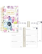 Blueline Weekly/Monthly Academic Planner, 13-Month, July 2020 to July 2021, Twin-Wire Binding, Trilingual, Poly Cover, 8 X 5 Inches, Floral Design (CA114BPM.01-21)