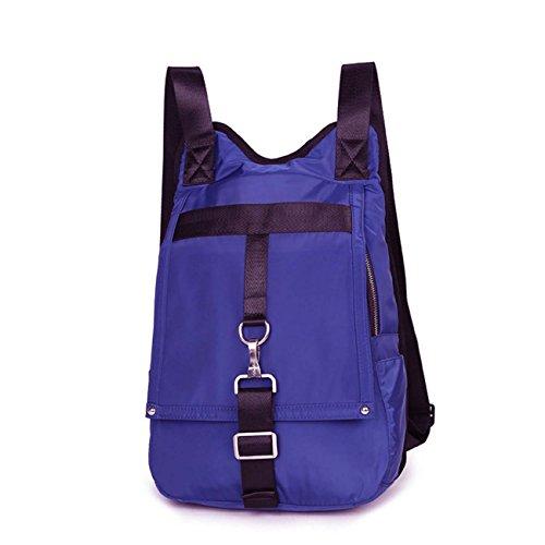 Nylon mochila Bolsos Corea del Estilo Tide Simple salvaje impermeable ocio bolsa de viaje mochila Purple