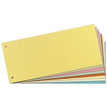 Staples - Separadores para archivador (cartón reciclado, 190 g, 240 x 105 mm, 100 unidades), color amarillo: Amazon.es: Oficina y papelería