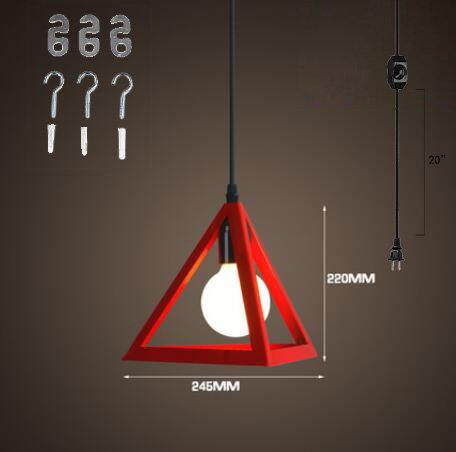 Red And Black Pendant Lighting in US - 2