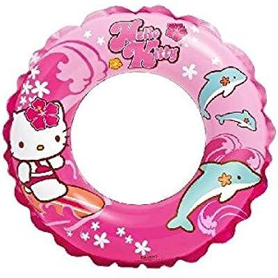 Intex Hello Kitty - Flotador hinchable para niños de 3 a 6 años, diámetro flotador: 51 cm