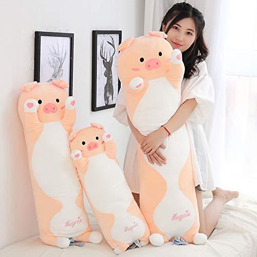 Cute Plush Stuffed Toy | Lovely Heart Pig Hug Me Piggy Soft Stuffed Doll | Long Body Pillow | Birthday (1pc) ()