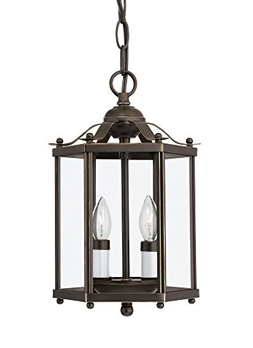 Sea Gull Lighting 5232EN-782 Bretton - Two Light Convertible Pendant, Heirloom Bronze Finish with Clear Glass ()