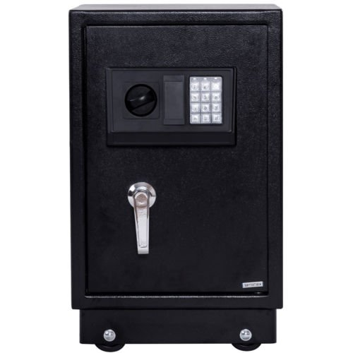 Giantex Security Safe Box Anti-Theft Safe Wall Mouted with Digital Lock Removable Wheels, Security Box for Money Jewelry Gun Storage by Giantex (Image #1)