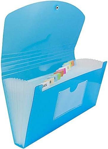 Details about  /File Case Expanding Plastic Document Bag Pocket Paper Organizer File Folder DM