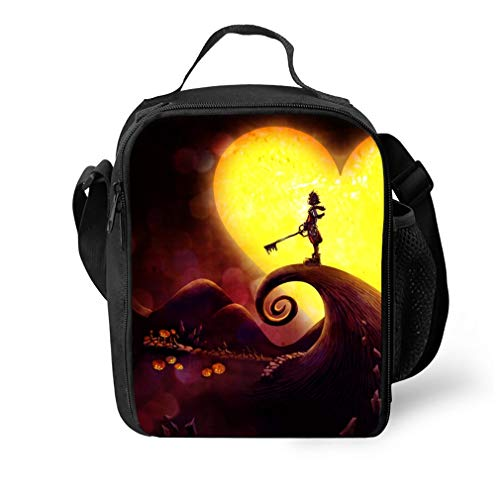 Reusable Kingdom Hearts Halloween Town Lunch Tote Bag Insulated Lunch Bags Lunch Box Tote Bag Handbag