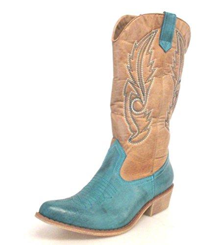 Matisse Women's tan Gaucho Turqoise Boot By Coconuts 4Pqcff