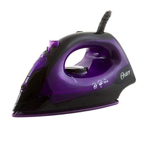 Oster GCSTBS4801V-053 Black/Violet 1200-Watt Variable Steam Iron, 220 Volts (Not for USA - European Cord)
