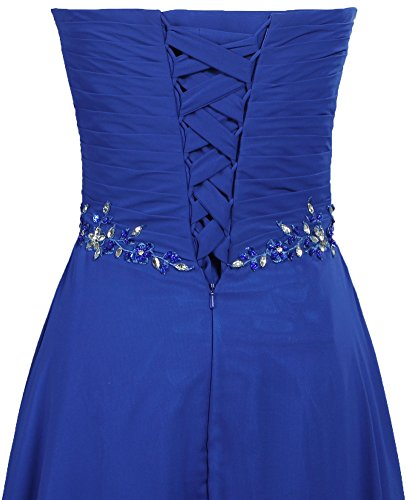 Long Formal Evening Dresses Women's Gown Blue Chiffon Prom ANTS PXfUXq