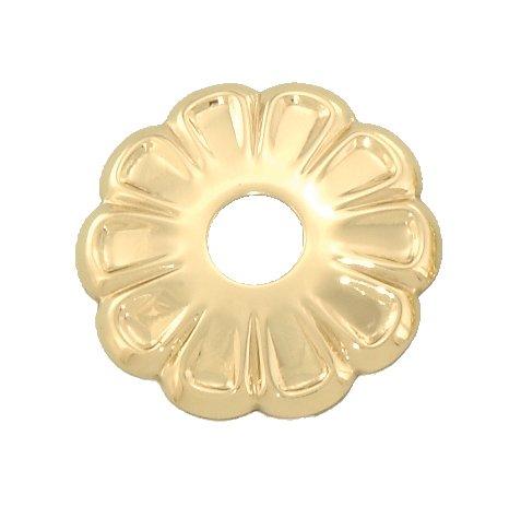B&P Lamp Stamped Brass Rosette, 1 1/2