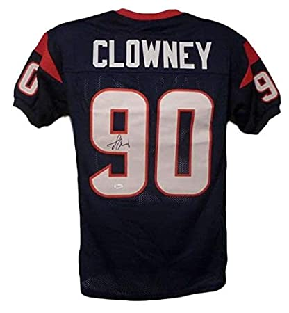 Jadeveon Clowney Autographed Signed Houston Texans Blue XL Jersey ... 781a80545