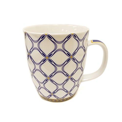 SVIV Curve New Bone China Coffee or Tea Mug, 16oz (Blue - Mug Curve