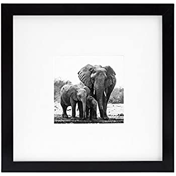 this item 8x8 black picture frame matted to fit pictures 4x4 inches or 8x8 without mat made for wall or desktop use