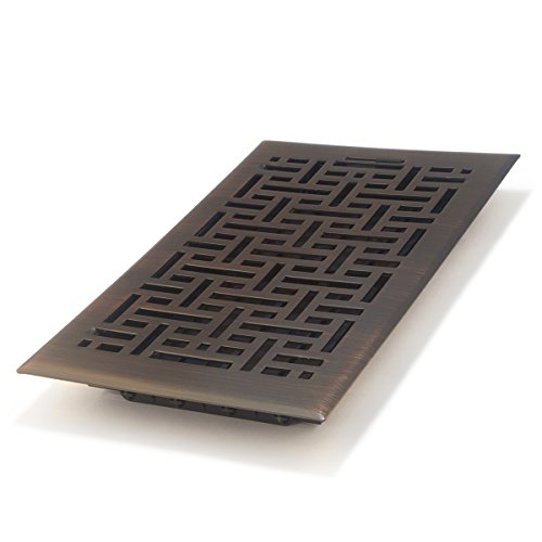 Accord AMFRRBB610 Floor Register with Wicker Design, 6-Inch x 10-Inch(Duct Opening Measurements), Oil Rubbed Bronze Bronze Vent