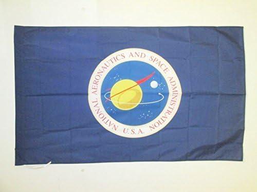 AZ FLAG Bandera de la NASA DE Estados Unidos 150x90cm para Palo - Bandera ADMINISTRACIÓN Nacional DE LA AERONÁUTICA Y del Espacio 90 x 150 cm: Amazon.es: Hogar