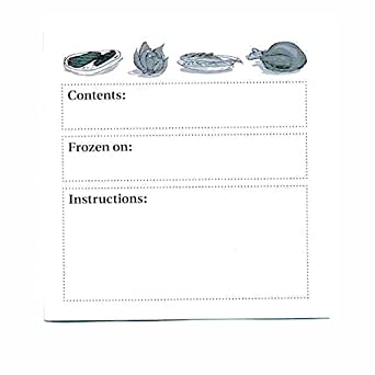 Large Adhesive Freezer Labels 3 3/4 Inches (Pkg of 50)