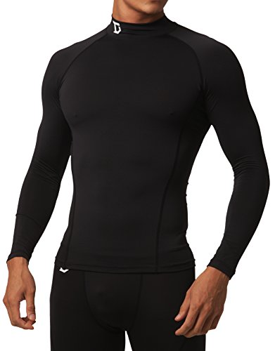 9bdf844b Defender New Men's Winter Compression Mock Shirts Baselayer Tights Soccer  BB_L