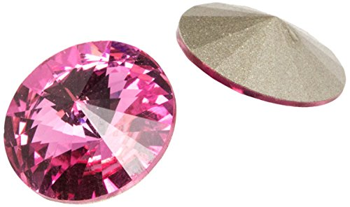 Swarovski - Create Your Style ROSE RIVOLI 14MM 3 packages of 2 Piece (6 Total Crystals)