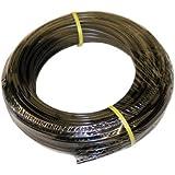 "ATP IMBIBE NSF 61 Polyethylene Plastic Tubing, Black, 11/64"" ID x 1/4"" OD, 100 feet Length"