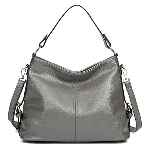 Grey Leather Handbags - 6
