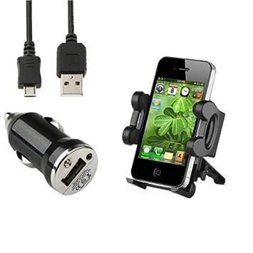 CABLE+SOPORTE REJILLA+CARGADOR PARA Sony Ericsson Xperia Arc S Ray L LT26i PU