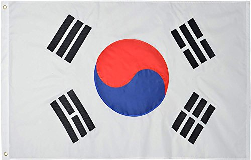 Cheap Green Grove Products South Korea 3′ x 5′ Ft 210D Nylon Premium Outdoor Embroidered South Korean Flag