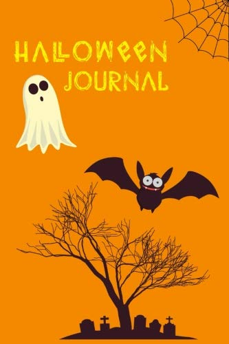Halloween Journal: Blank Lined Journal 6x9 inches - 100 pages with Trick or Treating Safety Tips -