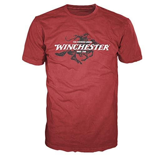 Logo Graphic Tee - Winchester Official Legend Rider Men's Graphic Short Sleeve T-Shirt Red