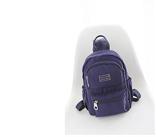 Resistente al agua luz peso nailon mochila pequeña 1066, poliéster, azul marino, small azul marino