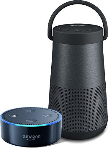 [해외] AMAZON ECHO DOT (NEW모델)고, 블랙 + BOSE SOUNDLINK REVOLVE+ BLUETOOTH SPEAKER 트리플 블랙