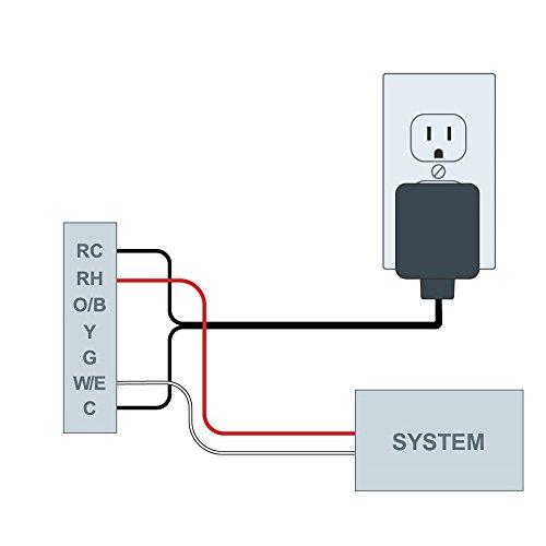 24 volt c wire power adapter transformer for ecobee nest honeywell rh doorbelloutlet com Nest Thermostat Wiring Diagram 4 Wire Nest Thermostat Wiring Guide