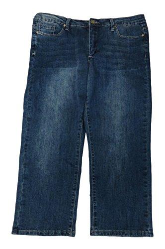 i Jeans, Size 14, Blue Denim/Oasis Wash (Anne Klein Capris)