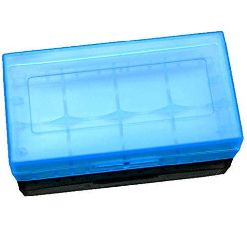 Gotd 2x18650 or 4x CR123A 16340 Battery Case Holder Box Storage Color Optional Blue (Battery not included)