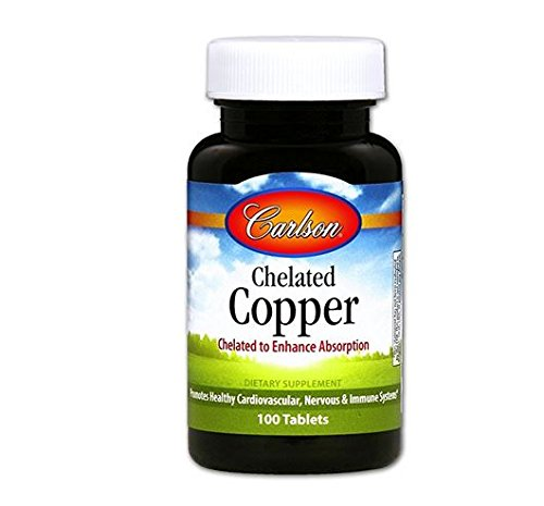 Carlson Labs Chelated Copper 5mg Tabs, 100 Count