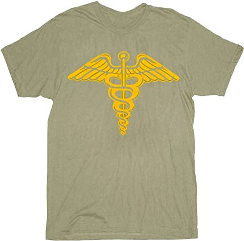 Ferris Bueller's Day Off Caduceus Adult T-Shirt (Adult Large) Army ()