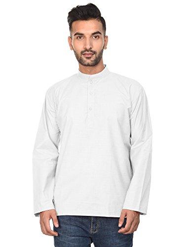 Yoga White Vestito Cotone Fashion Tunica In Camicia Gli Per Uomini Casual Balzano Clothing 1 Top Kurta RFxw6BEqc