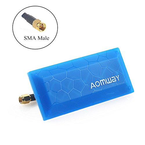 Crazepony FPV Antenna 5.8ghz 13DBi SMA Male Patch Antenna FPV Panel Antenna Aomway VTX Drone Antennas for FPV Racing Drone Goggles