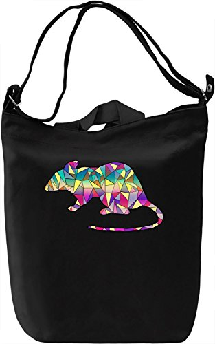 Geometric Mouse Borsa Giornaliera Canvas Canvas Day Bag  100% Premium Cotton Canvas  DTG Printing 