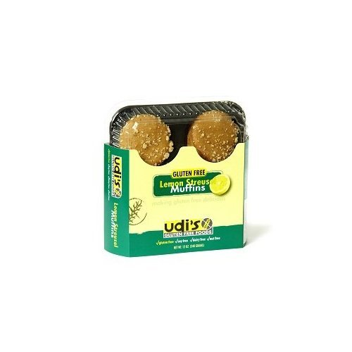 Udi's Gluten Free Lemon Streusel Muffins (1 Case)