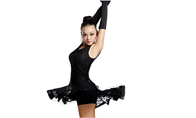 0eef3b56987e Latin Dance Dress New Style Sleeveless Dance Practice Costume Adult  Performance Clothes Square Dance Wear Black