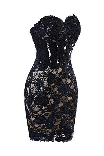 Blue Dress Short Cocktail s Women Party Bridal Sky Mini Sexy Lace Bess nZqPgwOx