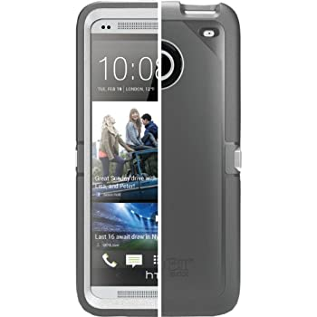 OtterBox Defender Case for HTC One M7 - Retail Packaging - Glacier (Grey/White) (Discontinued by Manufacturer)