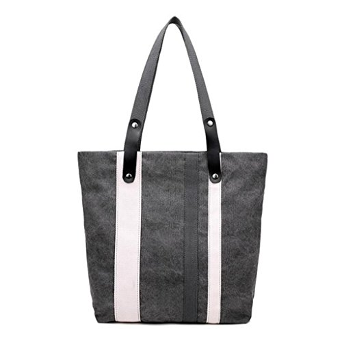 Sucastle Borsa borsa di tela spalla borsa retrò bag borsa di modo sacchetto di svago Sucastle Colore:grigio Dimensione:34x31x11cm