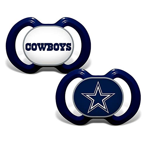 NFL Football 2014 Baby Infant Pacifier 2-Pack - Pick Team (Dallas Cowboys - Stripe)