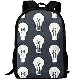 Lamp Bulb Unique Outdoor Shoulders Bag Fabric