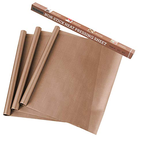 3 Pack PTFE Teflon Sheets for Heat Press Transfers Sheet 16""