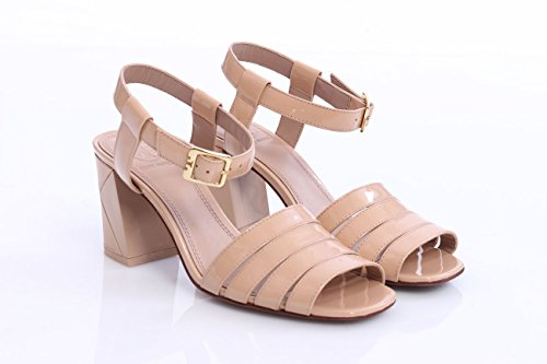 Tory Burch Light Pink Sandal In Patent Leather, Mujer.